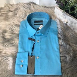 🆕 CALVIN KLEIN Slim fit non iron 80s twoply shirt